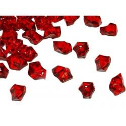 Lód akrylowy, duży 2,3 x 1,8 cm (czerwony) - 190 szt.
