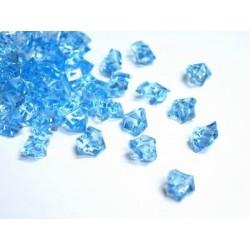 Lód akrylowy, duży 2,3 x 1,8 cm (jasno niebieski) - 190 szt.