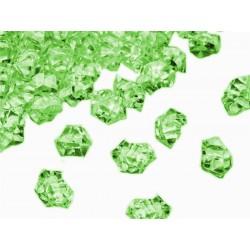 Lód akrylowy, mały 1,4 x 1,1 cm (zielony) - 780 szt.