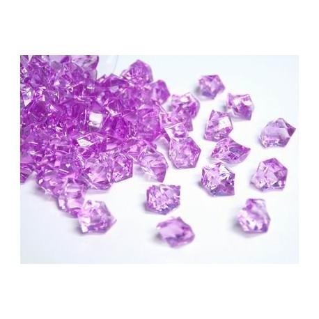 Lód akrylowy, mały 1,4 x 1,1 cm (różowy) - 780 szt.