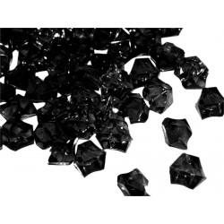 Lód akrylowy, mały 1,4 x 1,1 cm (czarny) - 780 szt.