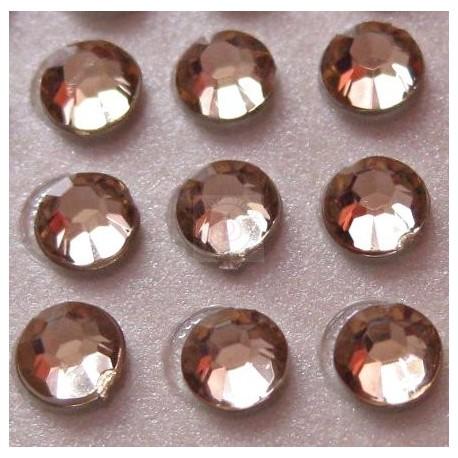 Cyrkonie okrągłe 3 mm (ecru) - 176 szt.