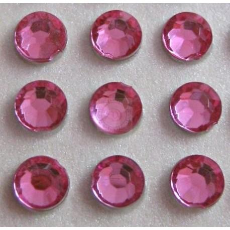 Cyrkonie okrągłe 3 mm (różowy) - 176 szt.