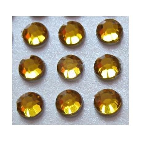 Cyrkonie okrągłe 3 mm (złoty) - 176 szt.