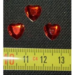 Dżety Serca 10 mm Czerwone