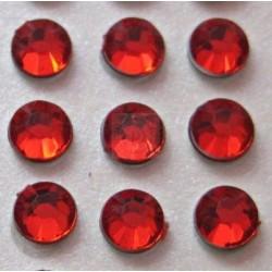 Cyrkonie okrągłe 4 mm (czerwony) - 176 szt.
