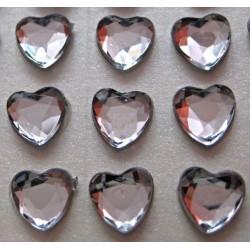 Cyrkonie serca 6 mm, 100 szt - KRYSZTAŁOWE